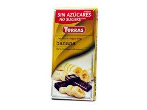 Torras čokolada s banánem 75g