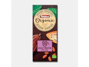 Torras čokoláda 90% BIO 100g
