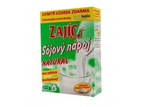 Sojový nápoj Natural krabička Zajíc 400g Mogador