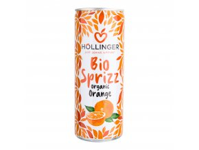 Limonáda pomeranč plech 250 ml BIO HOLLINGER