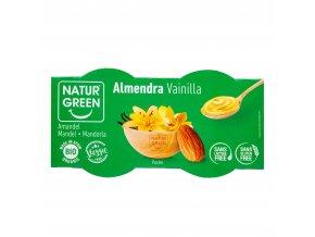 Dezert mandlový s vanilkovou příchutí 2x125g BIO NATURGREEN