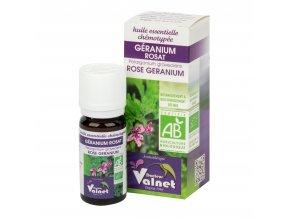 Éterický olej geranium růžové (muškát vonný) 10 ml BIO COSBIONAT
