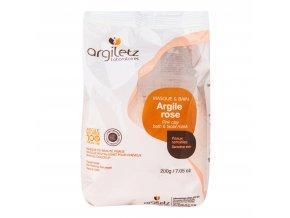 Jíl růžový ultra ventilovaný maska & koupel (citlivá pleť) 200 g ARGILETZ