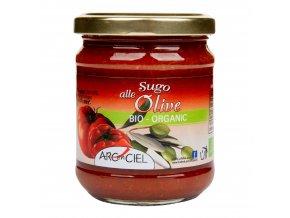 Omáčka rajčatová s olivami 190g BIO ARCENCIEL