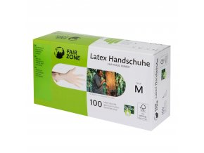 Jednorázové latexové rukavice M 100 ks FAIR ZONE FAIR SQUARED