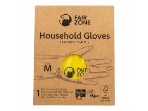 Rukavice pro domácnost z přírodního latexu M FAIR ZONE FAIR SQUARED