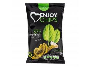 Enjoy Chips se špenátem a česnekem 40 g NEW DELESPINE