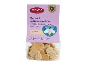 Srdíčka medová s máslem 100 g BIO ZEMANKA