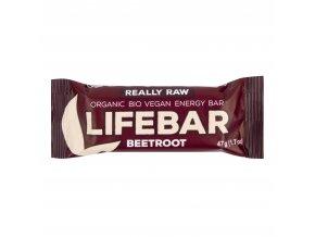 Tyčinka Lifebar s červenou řepou 47 g BIO LIFEFOOD