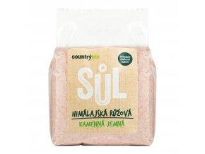 Sůl himálajská růžová jemná 1kg COUNTRYLIFE