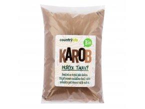 Karobový prášek tmavý 500g BIO COUNTRYLIFE