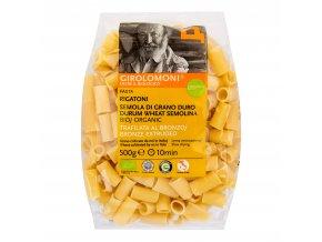 Těstoviny rigatoni semolinové 500g BIO GIROLOMONI