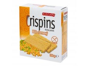 Chlebíček cizrnový Crispins bezlepkový 100 g BIO EXTRUDO