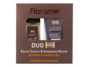Sada dárková toaletní voda 100 ml a sprchový gel 200 ml pro muže Fraicheur boisée BIO FLORAME