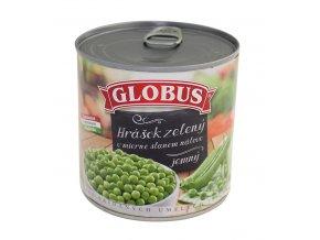 Hrášek zelený ve slaném nálevu GLOBUS 400g
