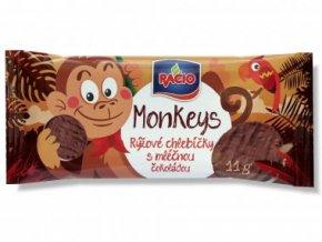 RACIO, s.r.o. Racio Monkeys rýž. chl. mléč. čoko.11g Racio