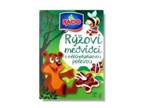 RACIO, s.r.o. Racio rýžoví medvídci mléčnokakaoví 35g Racio