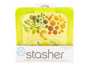 Sáček silikonový na potraviny zelený 450 ml STASHER