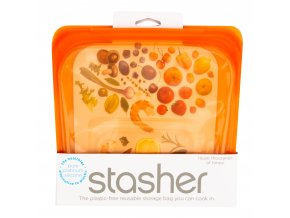 Sáček silikonový na potraviny oranžový 450 ml STASHER