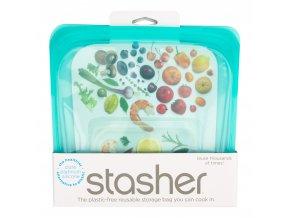 Sáček silikonový na potraviny tyrkysový 450 ml STASHER