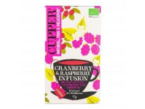 Čaj Cranberry & Raspberry 50 g BIO CUPPER