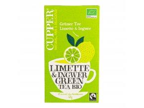 Čaj zelený Limette & Ingwer 35 g BIO CUPPER