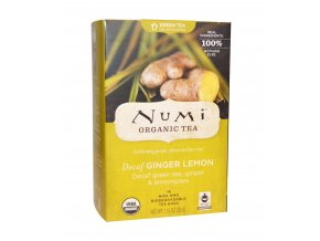 Numi čaj bio Zelený se zázvorem a citronovou trávou, 16 sáčků