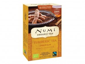Numi čaj kurkumový Amber Sun se skořicí a vanilkou, 12 sáčků