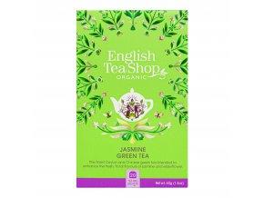 Čaj Zelený s jasmínem a květem bezu 20 sáčků BIO ENGLISH TEA SHOP