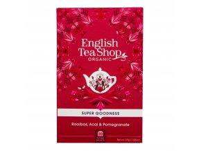 Čaj Rooibos s acai a granátovým jablkem 20 sáčků BIO ENGLISH TEA SHOP