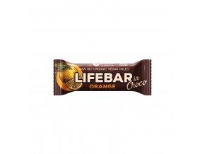Tyčinka Lifebar pomeranč v čokoládě 40 g BIO LIFEFOOD