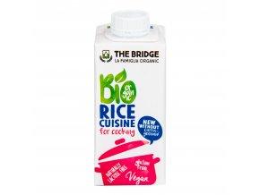 Rýžová alternativa smetany 7% tuku 200ml BIO THE BRIDGE
