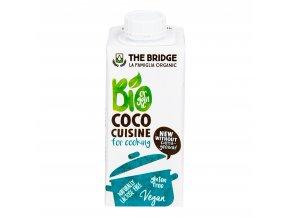 Kokosová alternativa smetany 9,5% tuku 200ml BIO THE BRIDGE