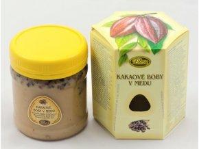 Kakaové boby v medu Pleva