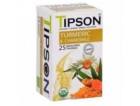 Tipson Tipson BIO Kurkuma a heřmánek čaj 25x1,5g