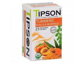 Tipson Tipson BIO Kurkuma a broskev čaj 25x1,5g