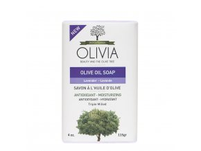 OLIVIA Přírodní Olivové mýdlo s Levandulovým olejem 115 g
