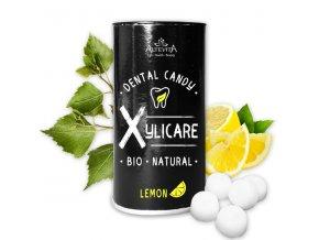 BIO březové bonbony Xylicare citron, 25ks