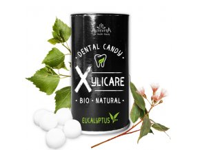 BIO březové bonbony Xylicare eukalyptus, 25ks