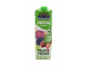 FRUCTAL Fructal fruit & veggie jahoda,řepa 1l