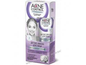 """ACNE CONTROL PROFESSIONAL: Detoxikační pleťová maska """"Omlazující"""" sčerným uhlím 45ml K508"""