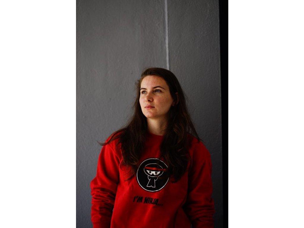 Parkourová mikina I AM NINJA červená