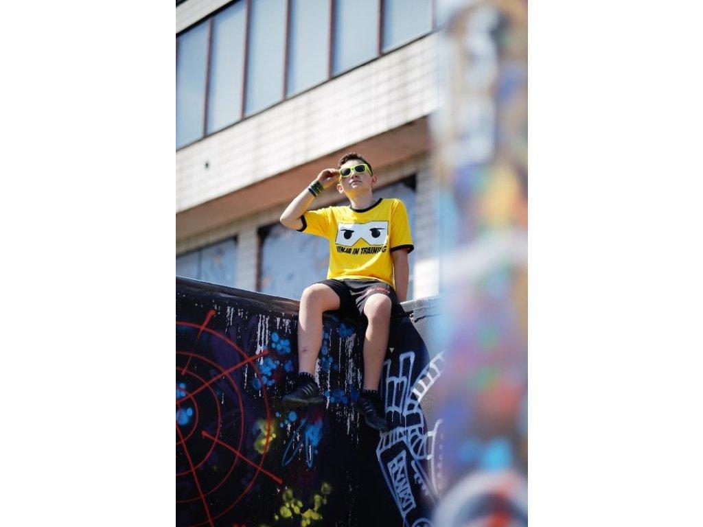 Parkourové triko Ninja in Training žluté