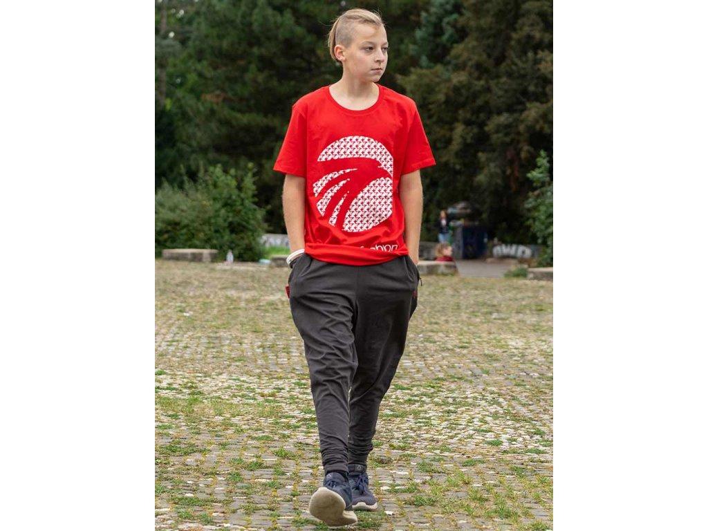 Parkourové triko Parkour Fashion Milion červené
