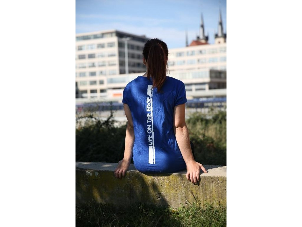 Parkourové triko Zerker Life On The Edge modré