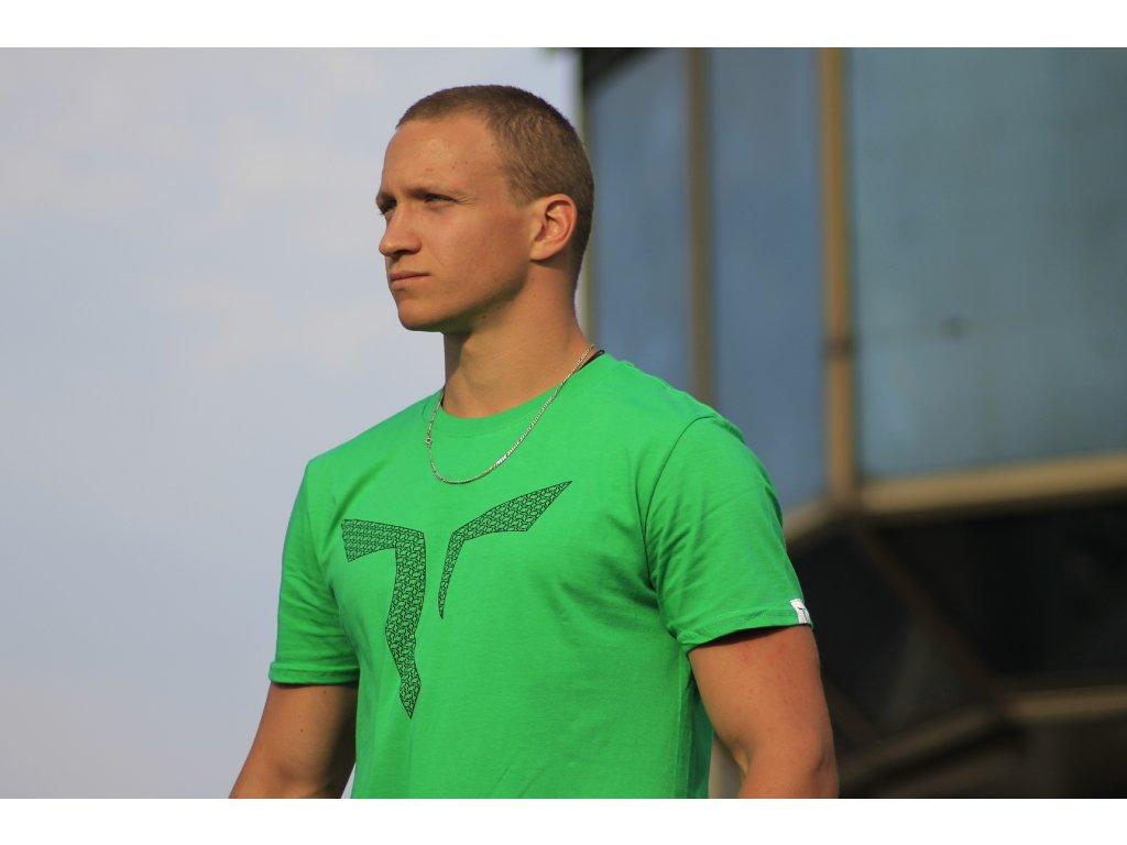 Parkourové triko Zerker Logo Netting zelené