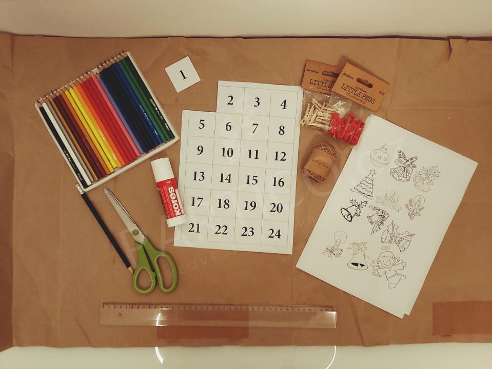 Co vše si připravit na výrobu adventního kalendáře
