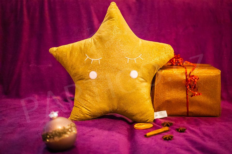Polštář zlatá hvězda