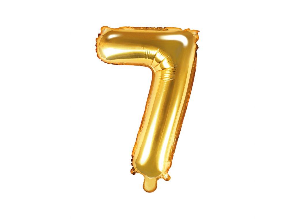 balonek cislo 7 zlaty 35cm FB10M 7 019 01