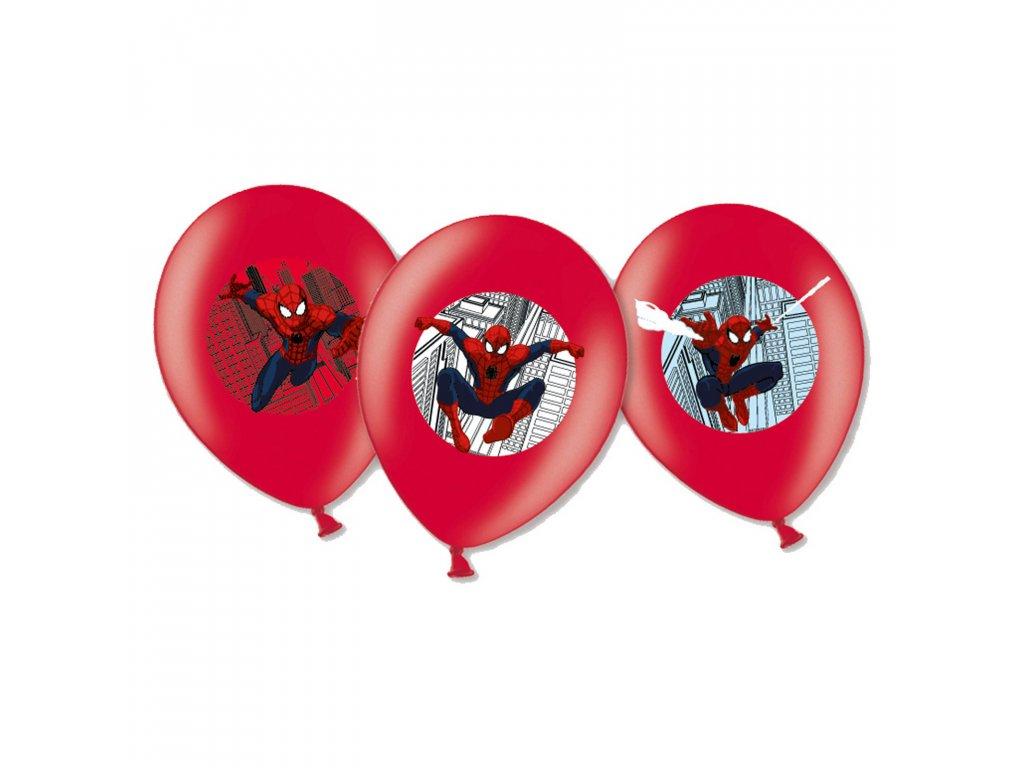 balonky spiderman cervene 27,5cm 6ks 999241